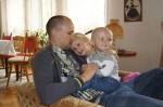 Pappa, Tilde och Elis hos mormor