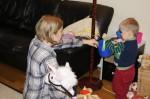 Emil och Anna på besök